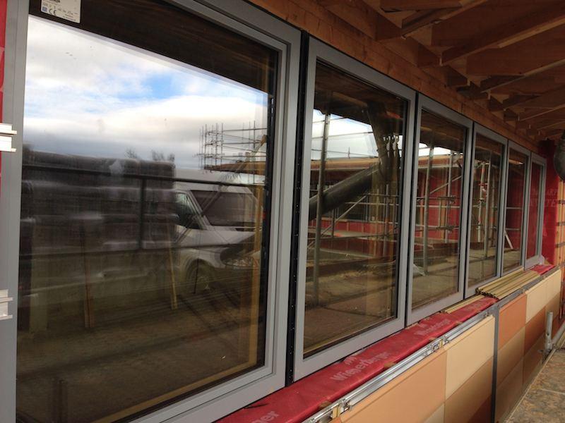 Chantier en cours de r alisation jeandelaincourt for Fenetre triple vitrage aluminium